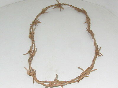 1 Leather barbed wire necklace.....Natural colored... 0175.,   bracelet.....hat