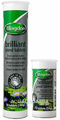 Blagdon Brilliant Pond Tablets Green Water Blanket Weed Sludge Remover Fish Koi