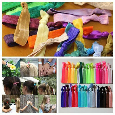 New 10pcs Women Elastic Hair Ties Bracelets Knotted Headband Ponytail Holders