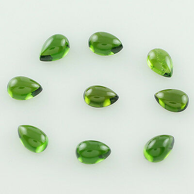 Chrome Diopside 5.64 Ct. 4X6 Mm Wholesale Lot Of Pear Cabochon Cut Awesome Gems