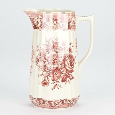 NEW Antique style Red ornate Pitcher Jug Ornate Edwardian porcelain 20.5cm/8""