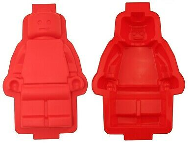 XXL Lego Man Cake Mould Figure Silicone Pan Baking Tray Mold Soap Party Ice Fun