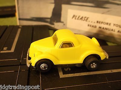 MINT Ford Coupe JL Tough Ones Chassis T Jet Race Track Set Slot Car
