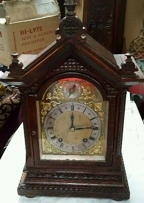 Reduced. Late Victorian Mantle Clock. German Movement.  8 Day