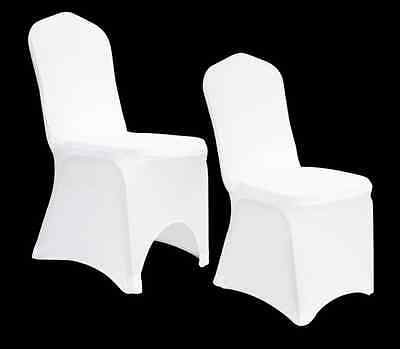 White Chair Covers Spandex Lycra Wedding Banquet Anniversary Party Decoration