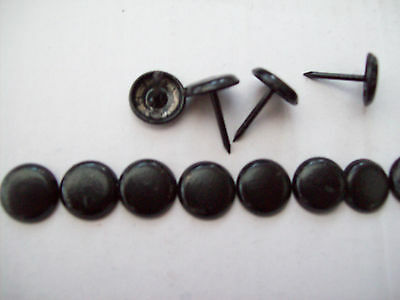 100pack  BLACK STEEL UPHOLSTERY FURNITURE NAILS STUDS TACKS WOOD CHEST