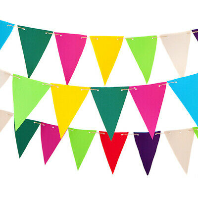 Waterproof Coated Fabric Outdoor Garden Bunting in Choice of Colours Patio Decor