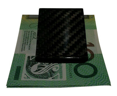Carbon Fibre Money Clip Note Holder Card Fiber Mens Wallet Ladies Bag Black