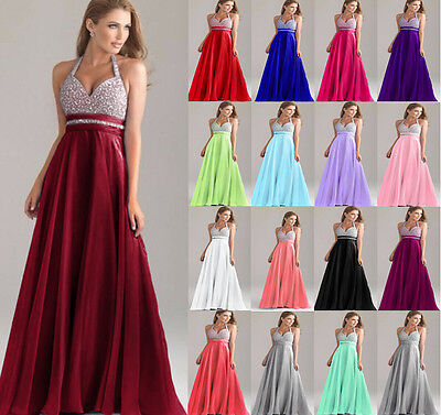 Wedding Prom Bridesmaid Dress Evening Formal Party Ball Gown Stock Size 6-18