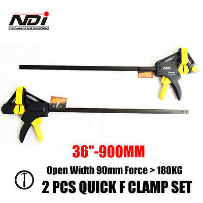 "2Pcs Quick-Grip Bar Clamp F Clamp Hand Trigger Action Clamp 36""-900Mm Nd-0103"