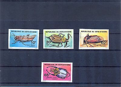 IVORY COAST 1978 Insects issue imperforate. VF.