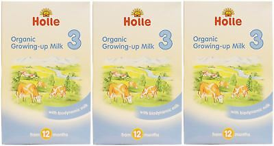 Holle Organic Growing Up Milk 3 - 600g (Pack of 3)