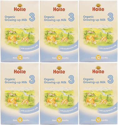 Holle Organic Growing Up Milk 3 - 600g (Pack of 6)