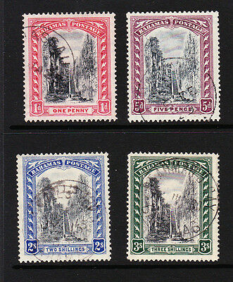 BAHAMAS 1921-29 SET OF 4v SCRIPT WMK SG 111-114 FINE USED.