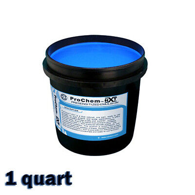 CCI ProChem HXT Blue Photopolymer Pre Sensitized Emulsion Screen Printing -1 QT