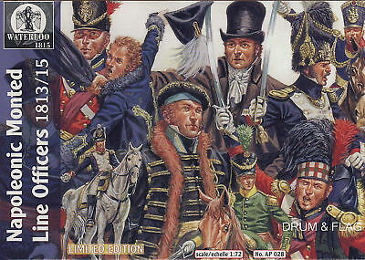Waterloo 1815 Ap028 Napoleonic Mounted Line Officers 1813-15. 1/72 Scale X 10.