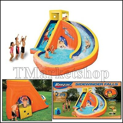 Durable Inflatable Water Slide Splash Bounce House Swimming Pool Kid w/ Blower