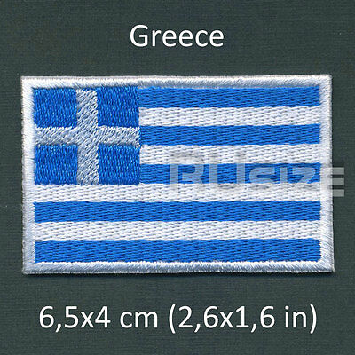 GREECE Country Flag Embroidered PATCH 6,5х4cm For sewn/ironed on Badge Chevron