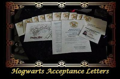 HOGWARTS ACCEPTANCE LETTER FOR ADULT WIZARDS/WITCHES (See Description)