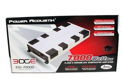 Power Acoustik EG1-7000D 7000 Watt Monoblock Full Range Car Subwoofer Amplifier