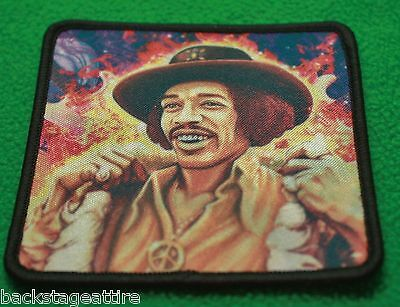 RARE Jimi Hendrix Fur Coat Art Embroidered Iron/Sew On Patch Badge Applique-New!