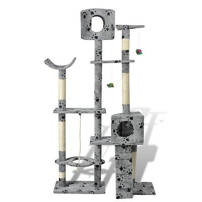 Cat Tree 175 Pet Scratcher Post Poles House Gym Cando Furniture Scratching Grey