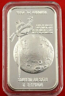 1oz .999 Fine Silver 1986 Voyager 2 Flys By Uranus Art Bar No :182