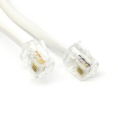3m meter HQ RJ11 to RJ11 ADSL BT Phone Cable Broadband Modem Router Lead - WHITE