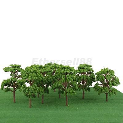 10pcs Landscape Scenery Green Trees Model Train Wargame Diorama OO HO 1:75