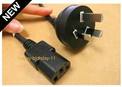 Power Cord Lead Cable 3 PIN AU 250V 10A For PC Computer TV Monitor Printer LCD
