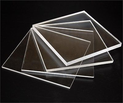 Clear Solid Polycarbonate/Perspex Sheet 3mm Thick , Various Sizes Available