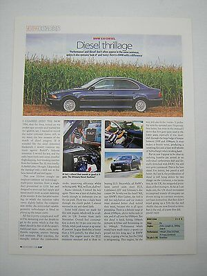 BMW 530d Road Test article from 1998 - Original