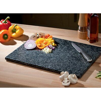 Large Black Granite Chopping Board Speckled Stone By Gagitech™ Size 40 x 30