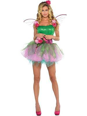 Woodland Fairy Costume Adult Fancy Dress UK 8-16 Ladies Nymph Tinkerbell Outfit