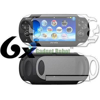 6 Full Body Clear Film Screen Guard Protector For Sony Playstation Ps Vita
