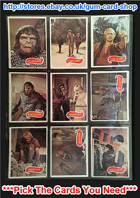 Topps Planet Of The Apes 1974 (F) ***Pick The Cards You Need***