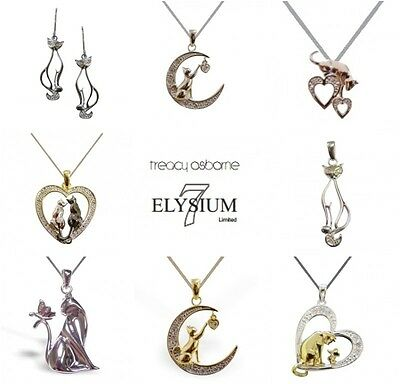 Sterling Silver Gold Plated Cat Pendant Necklace Remembrance Memorial Gift
