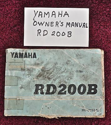 Yamaha RD200B Owners Manual