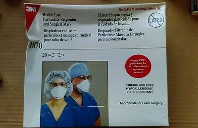 N95 Health Care Particulate Respirator and Surgical Mask 1870 3M