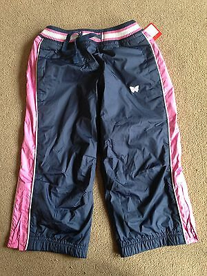 BNWT NEXT Navy & Pink Joggers Jogging Bottoms Trousers 2-3 Years