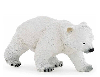 FREE SHIPPING | Papo 50145 Polar Bear Cub Walking Model Replica- New in Package