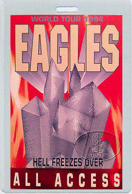The Eagles 1994 Hell Freezes Over Tour Laminated Backstage Pass