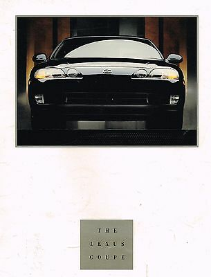 Big 1992 LEXUS SC400 / SC-400 Brochure / Catalog