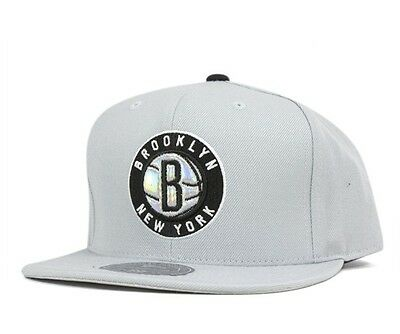 Mitchell & Ness Brooklyn Nets Slate Grey Foil High Crown Fitted Hat