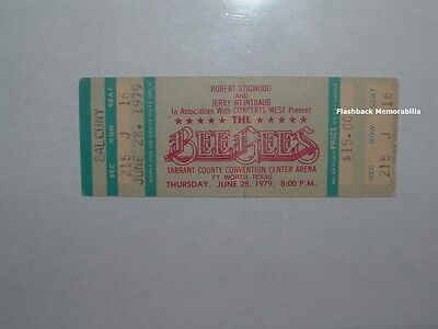 BEE GEES Unused 1979 Concert Ticket DALLAS FT WORTH T.C.C.C.A. Brothers Gibb