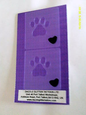 2 x  & dog paw print wall decor stencils for home decoration kitchen hall lounge