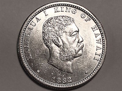 1883 Hawaii Silver Quarter *  Choice BU  *