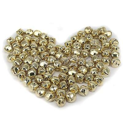 100 Gold Plated JINGLE BELLS Christmas Bells 15mm Beads Charms Jewelry DIY