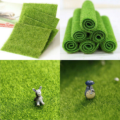 Faux Lawn Artificial Miniature Grass Fairy Garden Ornament Dollhouse Craft Decor