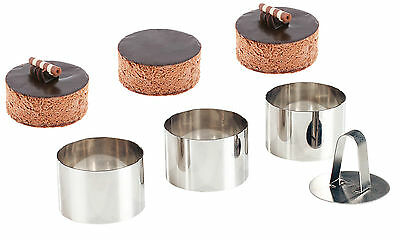 Set of 3 Stainless Steel Rings To Make Crumpets Mousse Mashed Potato Rice